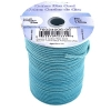 Dazzle-it Cotton Wax Cord 1.5mm Round Blue Turquoise 25m Spool